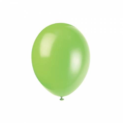 10 Ballons Vert Néon
