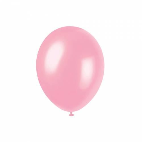 8 Ballons Rose Cristal