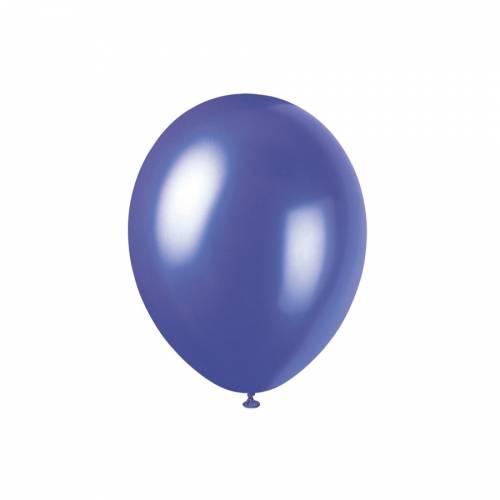 8 Ballons Violet Electrique