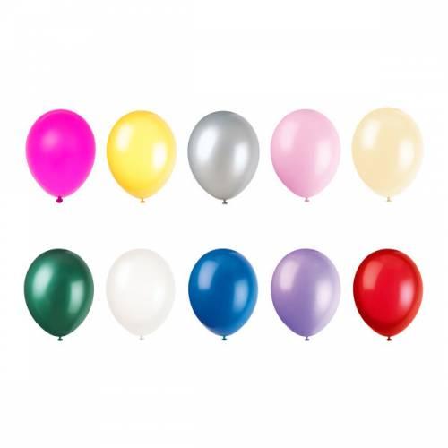 50 Ballons Multicolore Nacré