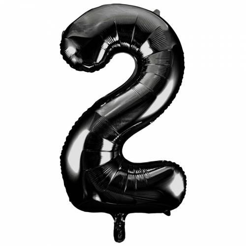 Ballon Géant Chiffre 2 Noir (86 cm)