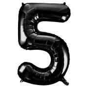 Ballon Géant Chiffre 5 Noir (86 cm)