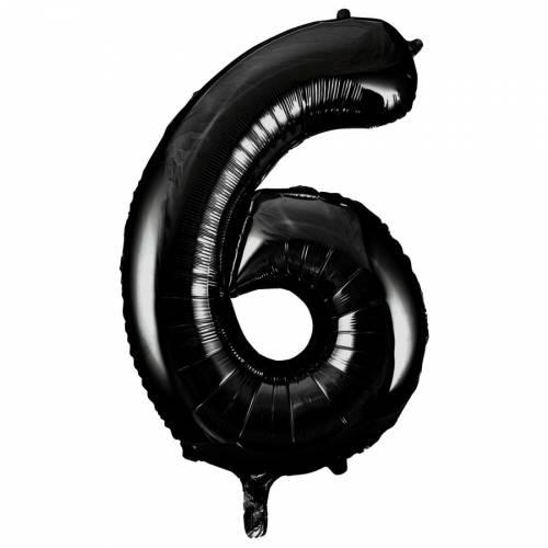 Ballon Géant Chiffre 6 Noir (86 cm)