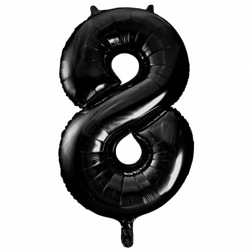 Ballon Géant Chiffre 8 Noir (86 cm)