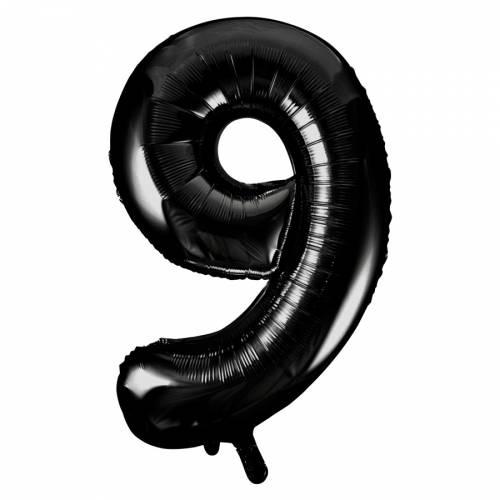 Ballon Géant Chiffre 9 Noir (86 cm)