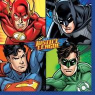 16 Serviettes Justice League