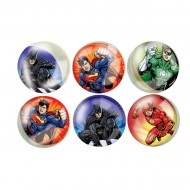 6 Balles Rebondissantes Justice League (3 cm)
