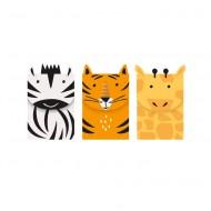 3 Boîtes Cadeaux -Animaux de la Jungle