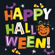 16 Serviettes Chat & Citrouille Happy Halloween