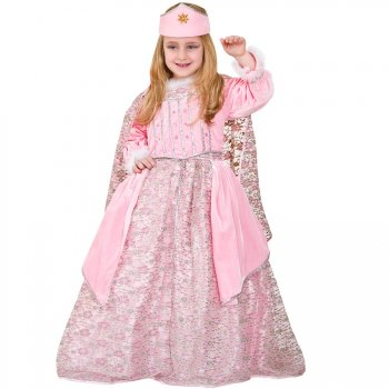 Déguisement Princesse velours Rose Luxe