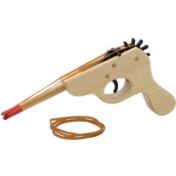 Pistolet en bois à élastiques