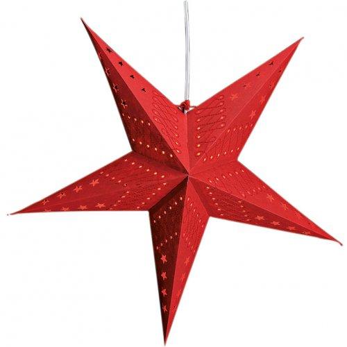 Etoile Papier Rouge Petites Etoiles pour Lampe (60 cm)