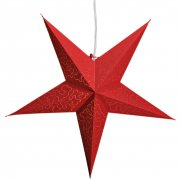 Etoile Papier Rouge Petits Points pour lampe (60 cm)