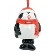 Suspension Clochette Pingouin (6 cm) - Céramique