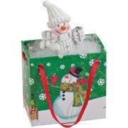 Mini Sac Cadeau Bonhomme/Père Noël Blanc (5 cm) - Résine