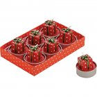 6 Bougies Chauffe-plat Cadeaux (4 x 3,5 cm)