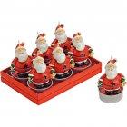 6 Bougies Chauffe-plat Père Noël (4 x 6 cm)
