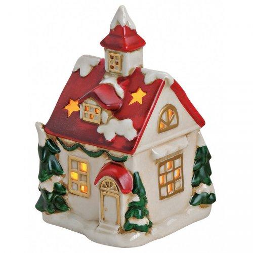 Grand Photophore Maison de Noël (14 cm) - Céramique