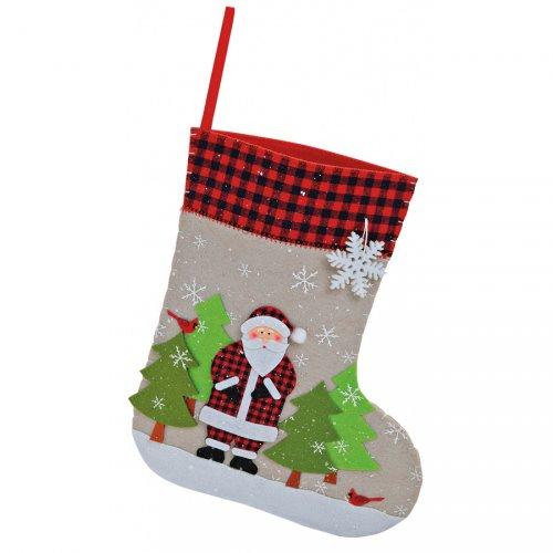 Grande Chaussette Père Noël (33 cm) - Feutrine