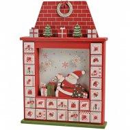 Calendrier de l'Avent Père Noël Maison (41 cm) - Bois
