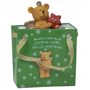 Mini sac Cadeau Renne/Ourson/Biche (5 cm) - résine