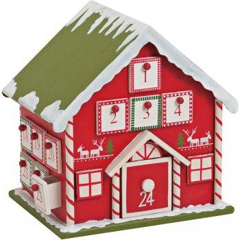 Calendrier de l Avent Maison (22 cm) 4 côtés - Bois