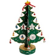Grand Sapin de Table Musical Vert (37 cm) - Bois