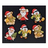 3 Magnets Noël (5,5 cm) - Céramique