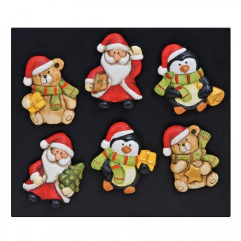 3 Magnets Noël (5,5 cm) - Céramique