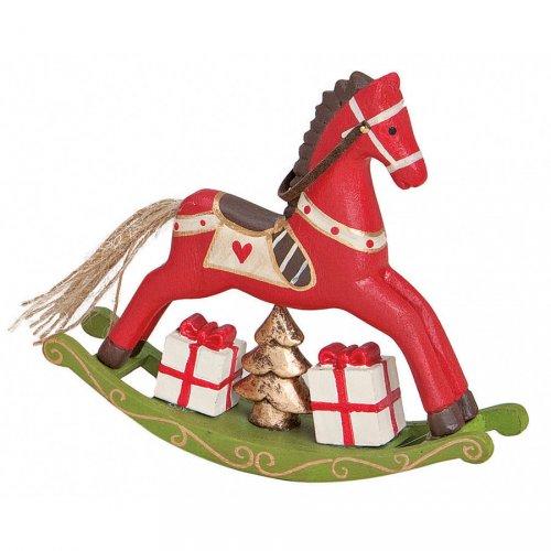 Cheval à Bascule Rouge (14 cm) - Bois