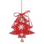 Suspension Sapin de Noël Clochette (11 cm) - Bois