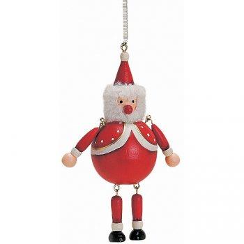 Pantin Père Noël à Ressort (8 cm) - Bois
