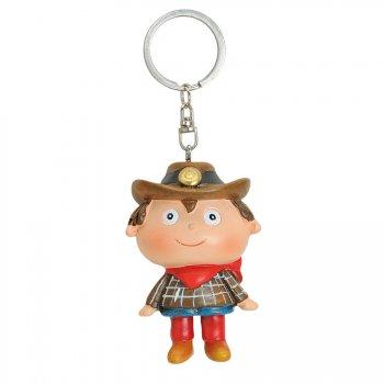 Porte Clé Cow Boy (7 cm) - Résine