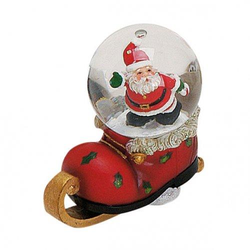 Boule à Neige Botte Père Noël (7 x 4,5 cm)