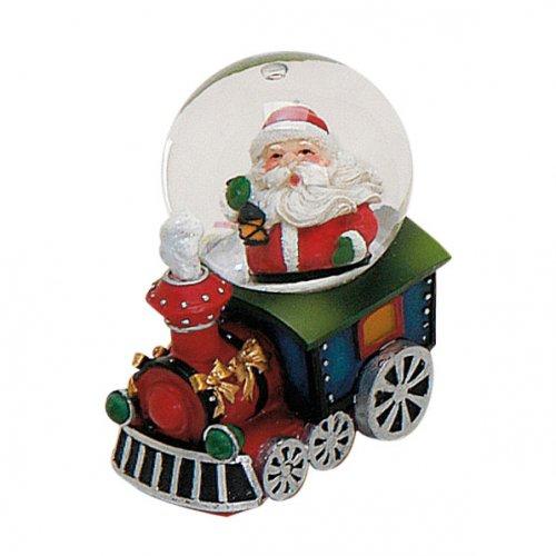 Boule à Neige Locomotive Père Noël (7 x 4,5 cm)