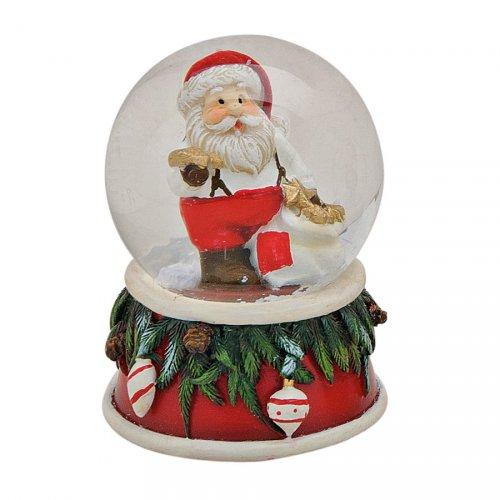 Boule à Neige Père Noël Sapin (6 x 4,5 cm)