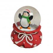Boule à Neige Sac Rouge Pingouin (6 x 4,5 cm)