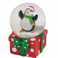 Boule à Neige Cadeau Pingouin (6 x 4,5 cm)