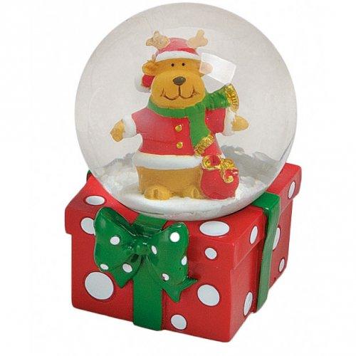 Boule à Neige Cadeau Renne (6 x 4,5 cm)