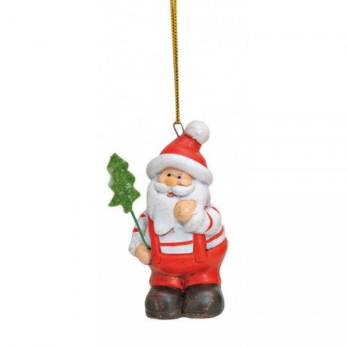 1 Suspension Père Noël (7 cm) - Céramique