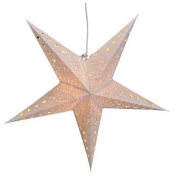 Etoile Papier Blanc Petites étoiles pour Lampe (60 cm)