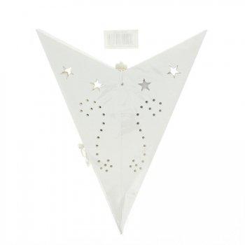 Etoile Papier Blanc Ajouré pour Lampe (60 cm)