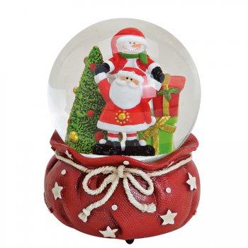 Boule à Neige Musicale Géante Père Noël (15 x 10 cm)