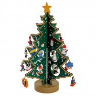 Grand Sapin de Table Vert (29 cm) 21 décors - Bois