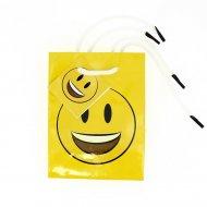 1 Sac cadeau Emoji Smiley (14 cm)