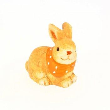 1 Figurine Lapin (6 cm) - Céramique peinte