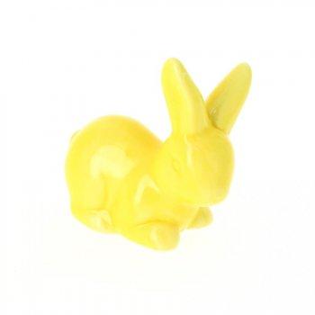 1 Lapin Jaune (7 cm) - Céramique