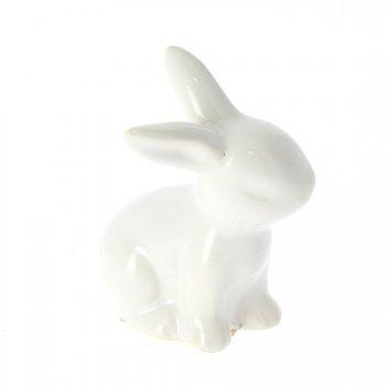 1 Lapin Blanc (7 cm) - Céramique