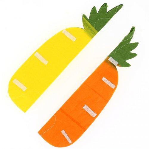 1 Décoration Ananas 3D (25 cm) - Jaune