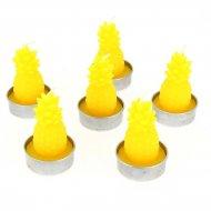 6 Bougies Ananas Jaune (6 cm)